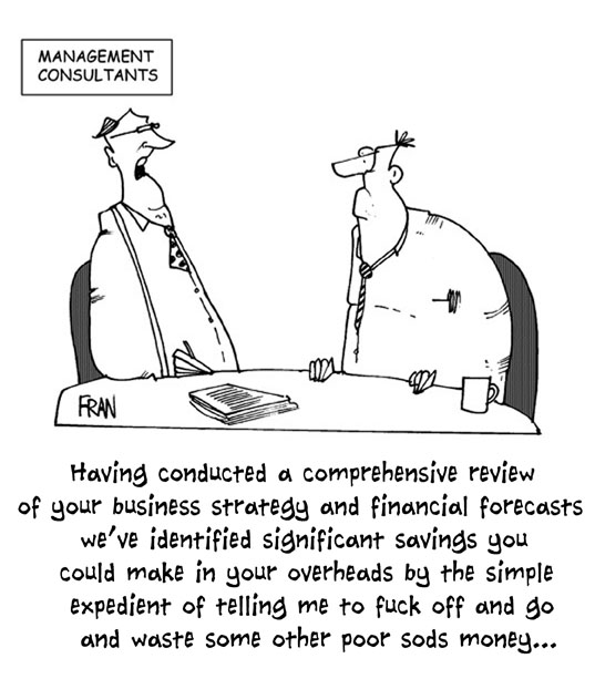 PRIVATE EYE cartoon about management consultants